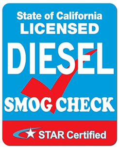 Diesel Smog Check. STAR Smog Check, Smog Test Only