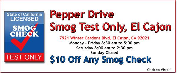 Pepper Drive Smog Check